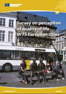 Servey on perception of quality of life in 75 European cities