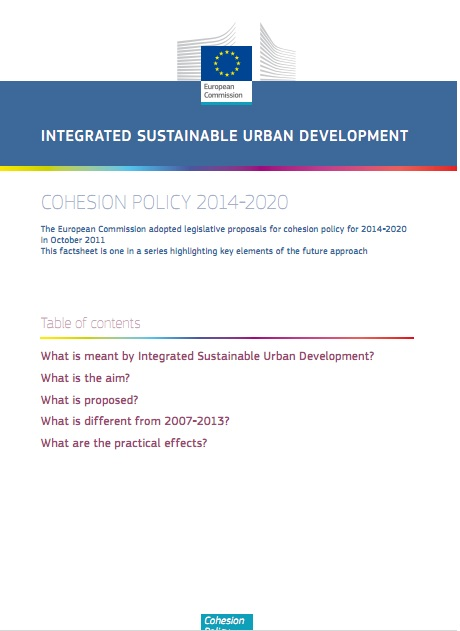 "Cohesion Policy 2014-2020 - ""Integrated Sustainable Urban Development"""